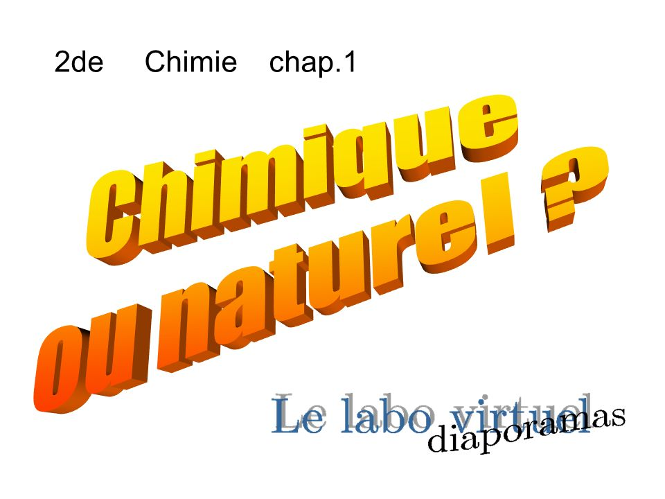 2de Chimie chap.1