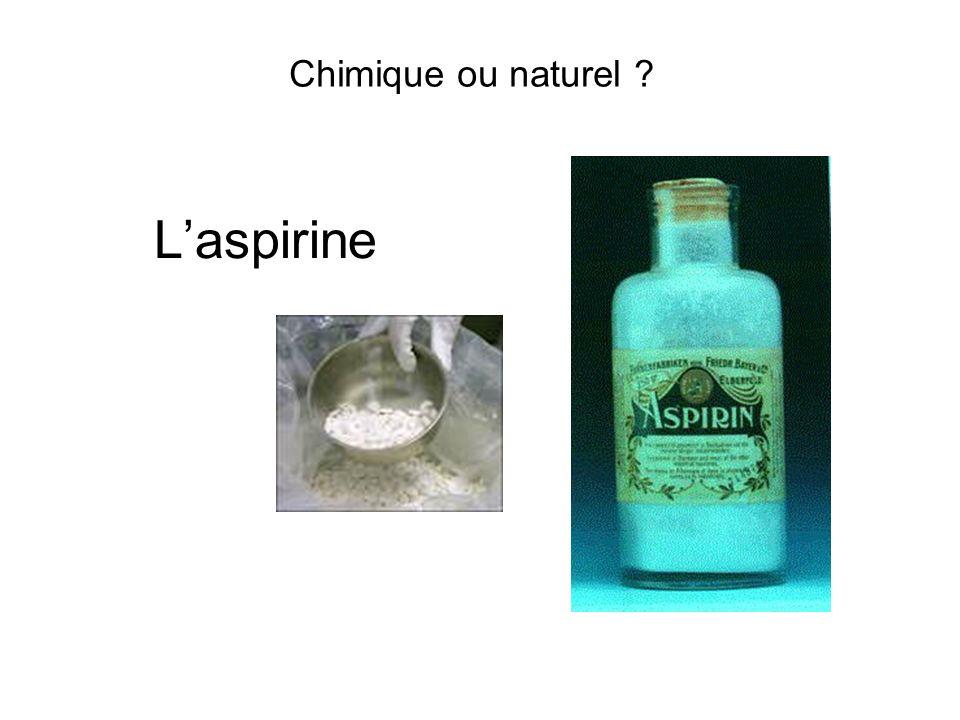 Chimique ou naturel ? Laspirine