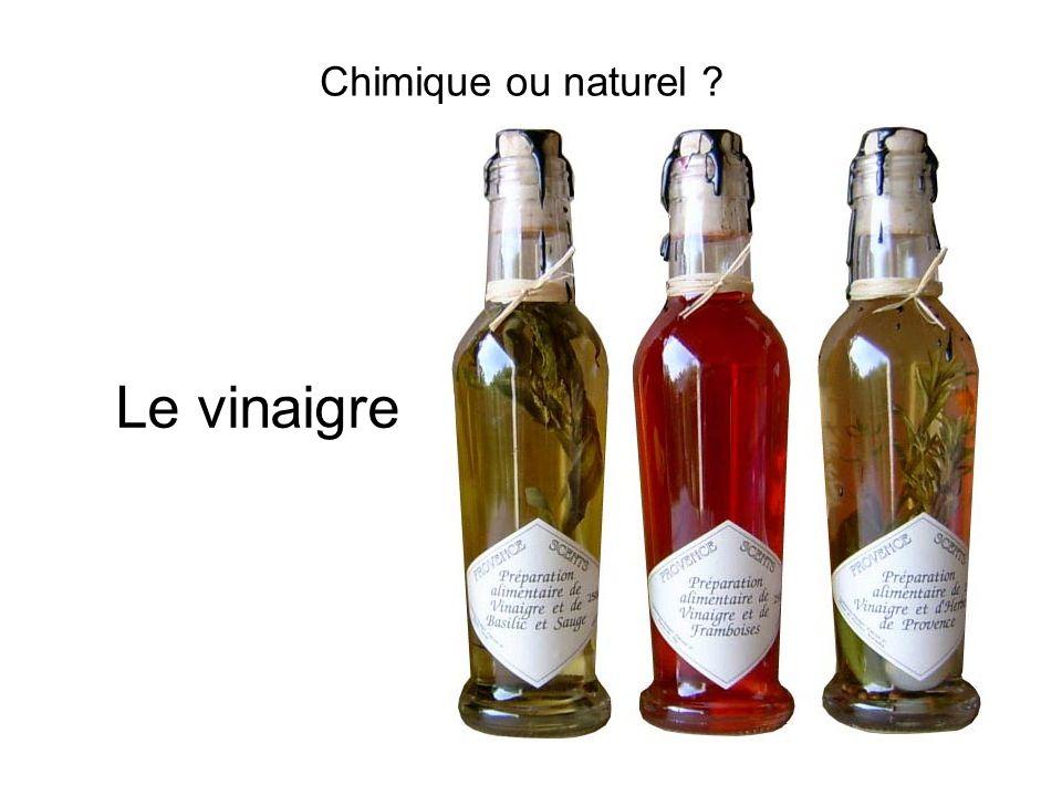 Chimique ou naturel ? Le vinaigre