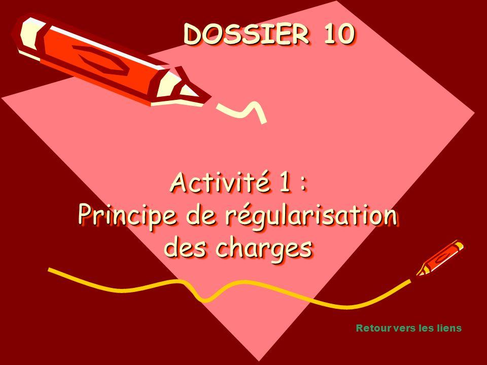 DOSSIER 10 DOSSIER 10 Activité 1 : Principe de régularisation des charges Retour vers les liens