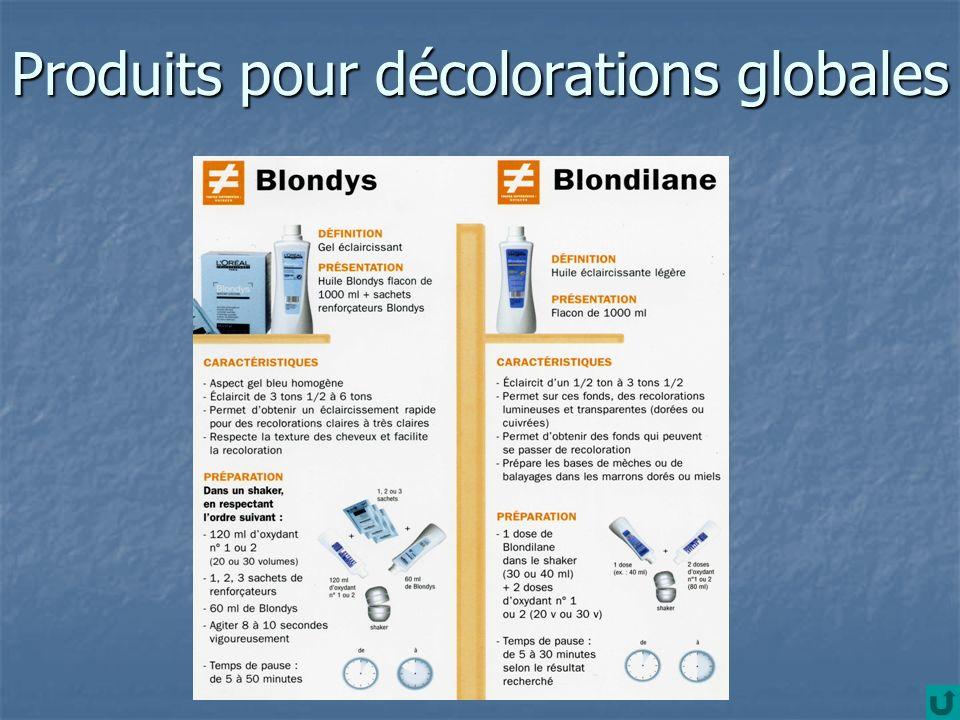 Produits pour décolorations globales