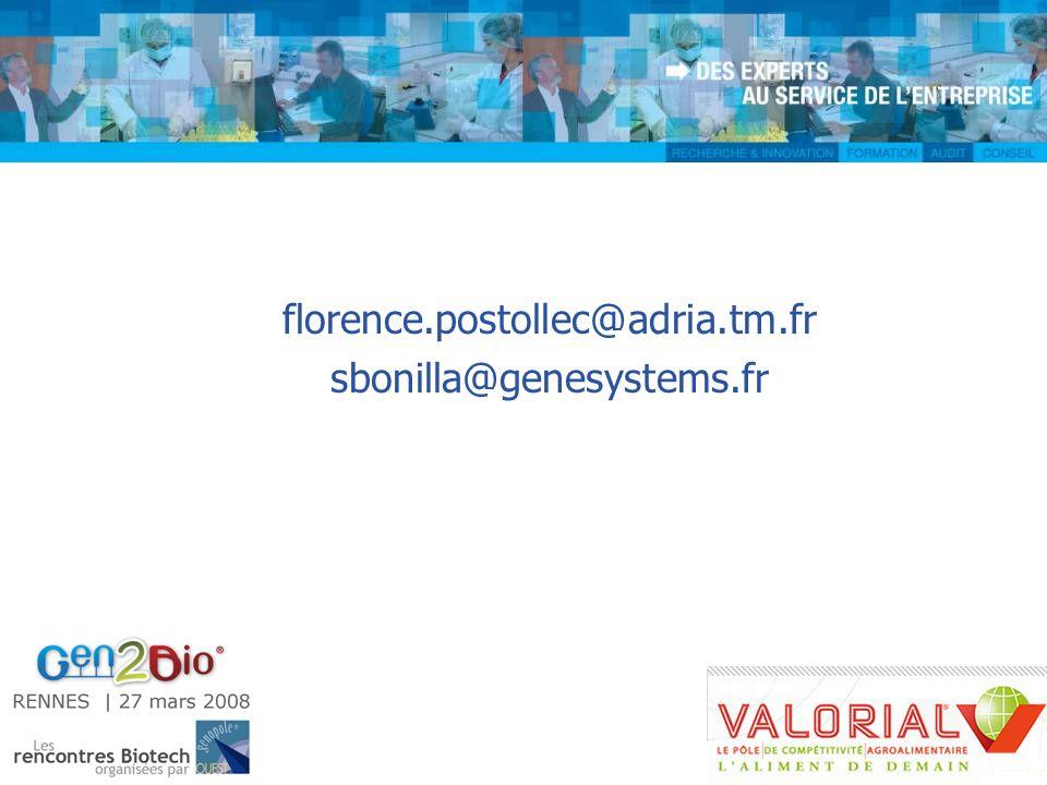 florence.postollec@adria.tm.fr sbonilla@genesystems.fr