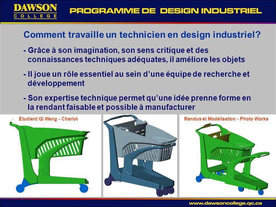 Comment travaille un technicien en design industriel.