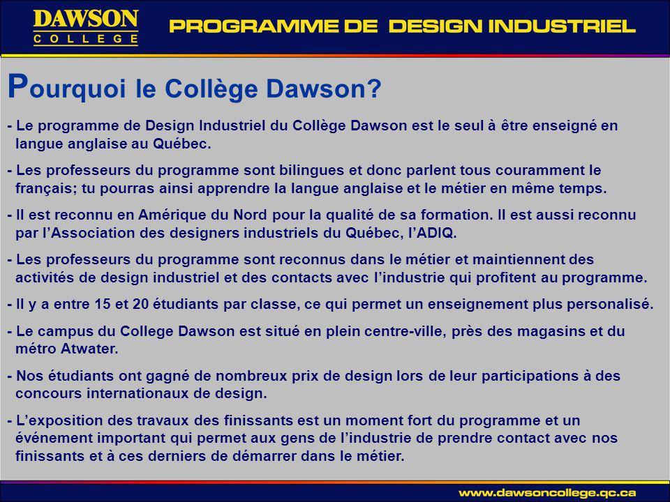 P ourquoi le Collège Dawson.