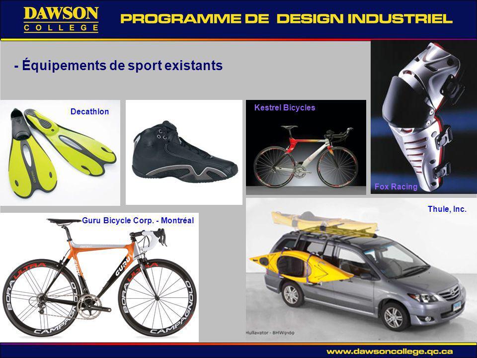 - Équipements de sport existants Thule, Inc.