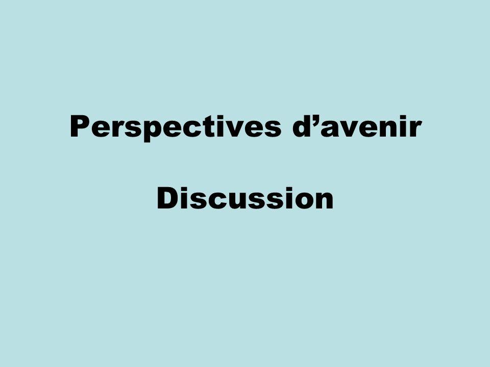 Perspectives davenir Discussion