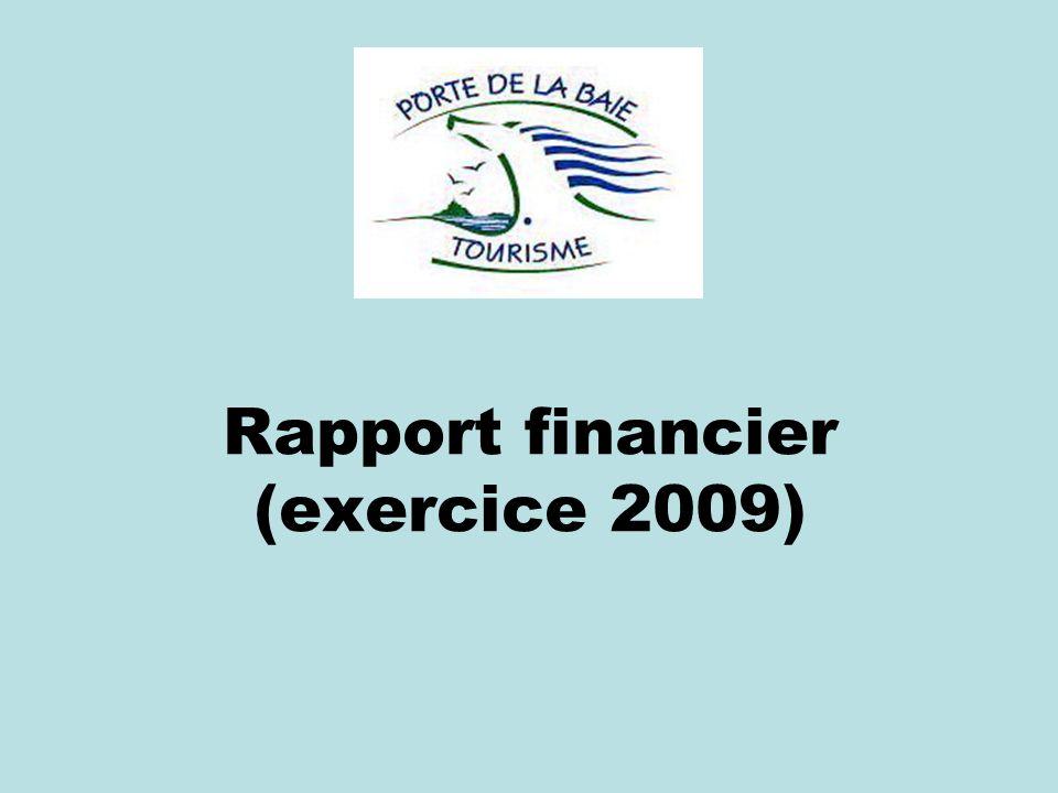 Rapport financier (exercice 2009)