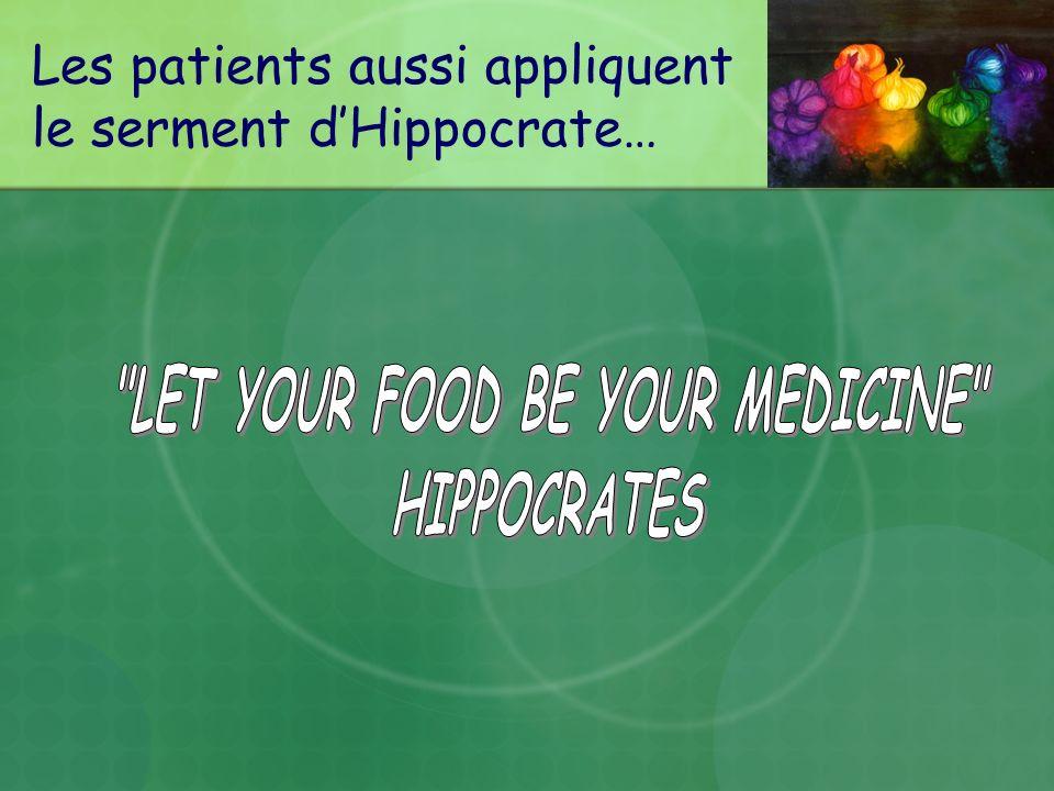 Les patients aussi appliquent le serment dHippocrate…