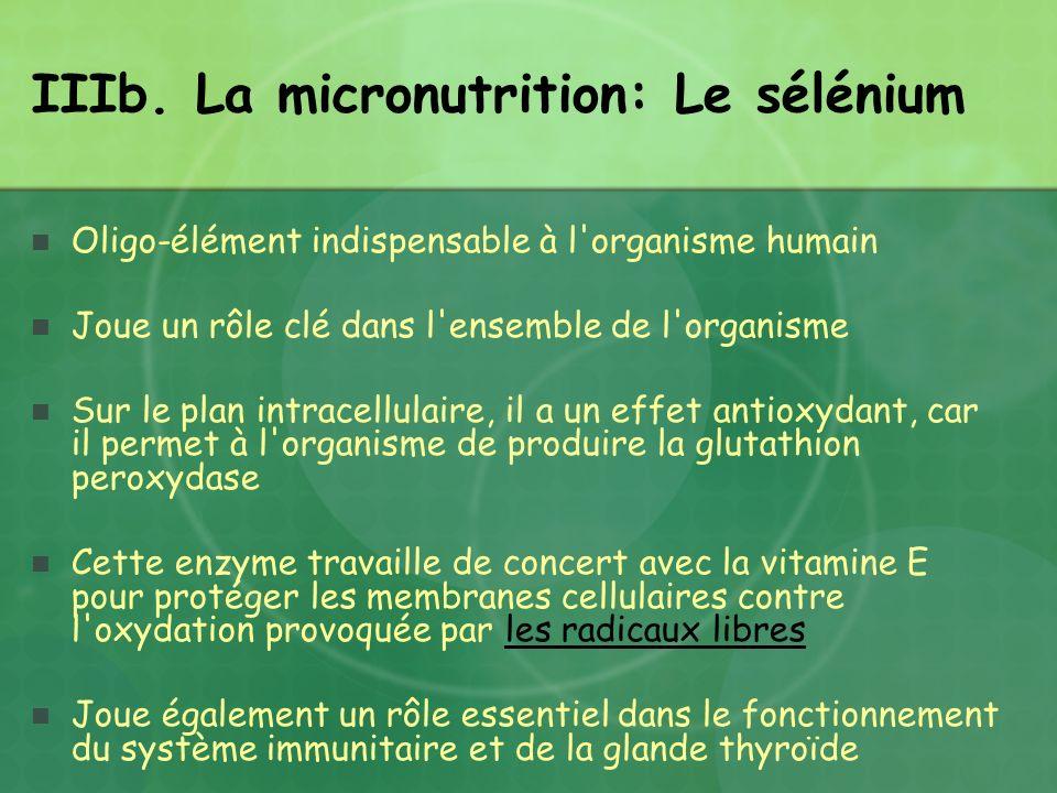 Oligo-élément indispensable à l'organisme humain Joue un rôle clé dans l'ensemble de l'organisme Sur le plan intracellulaire, il a un effet antioxydan