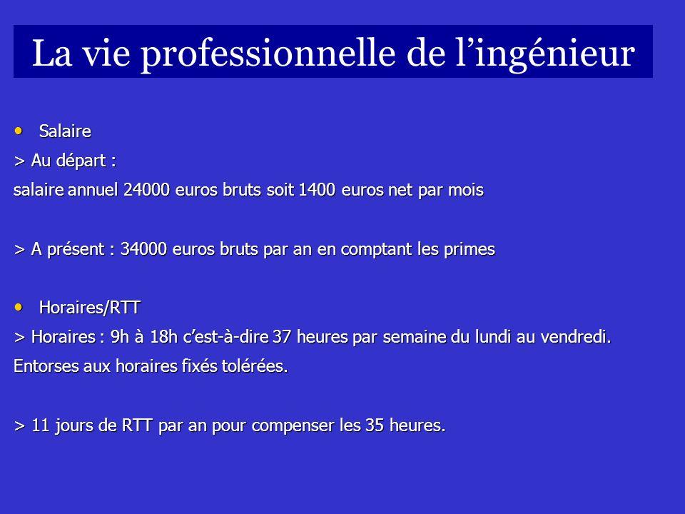 Salaire Salaire > Au départ : salaire annuel 24000 euros bruts soit 1400 euros net par mois > A présent : 34000 euros bruts par an en comptant les pri
