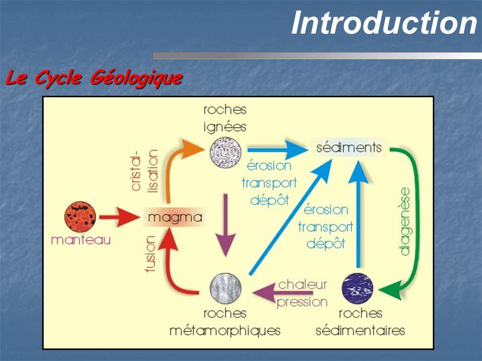 Processus sédimentaires Le Cycle Sédimentaire + + + + 1) Altération 3) Transport4) Dépôt SEDIMENTS 5) Diagenèse ROCHE SEDIMENTAIRE 6) Tectonique + Activité Biologique + Précipitation chimique 2) Erosion