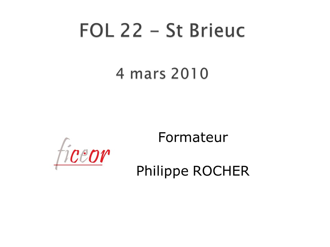 Formateur Philippe ROCHER