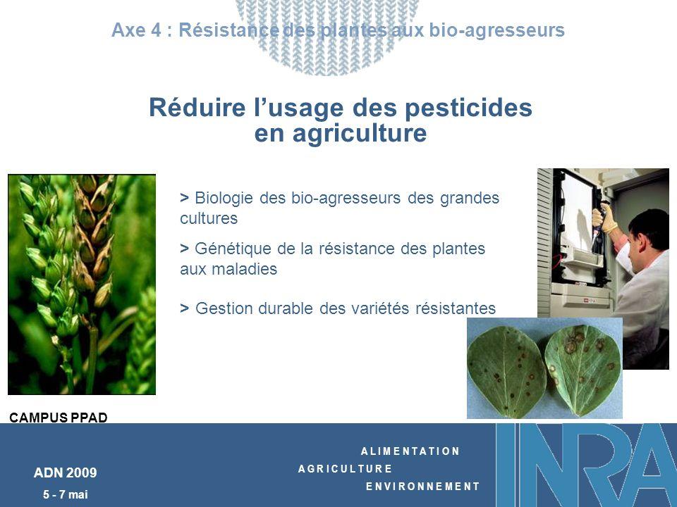 A L I M E N T A T I O N A G R I C U L T U R E E N V I R O N N E M E N T ADN 2009 5 - 7 mai Axe 4 : Résistance des plantes aux bio-agresseurs > Biologi
