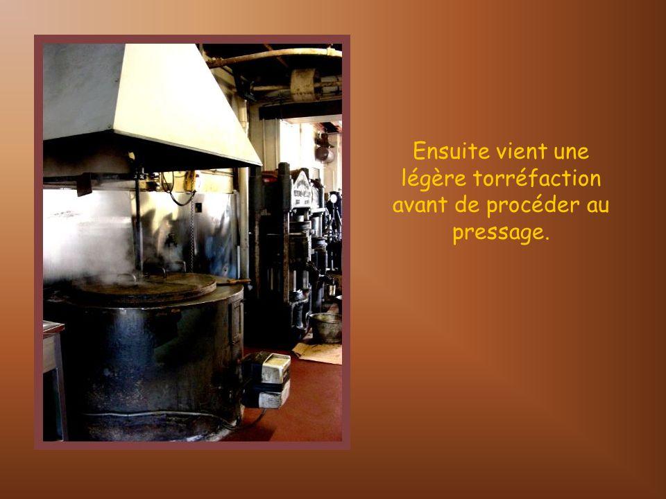 Toutefois, contrairement aux fruits à coques, le colza passe dans cette presse qui lui est réservée.