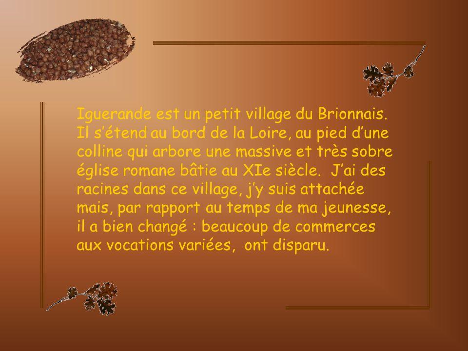 Iguerande Je vous emmène à Iguerande, village situé à lextrême sud de la Bourgogne, aux confins de la Saône- et-Loire et à la limite de la Loire.