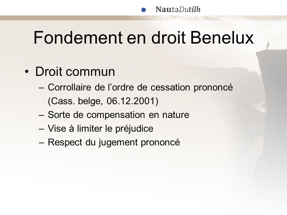 Exemples récents (4) Tribunal dAmsterdam (référé), 2 novembre 2006 –G-Star International (marques de forme) v.