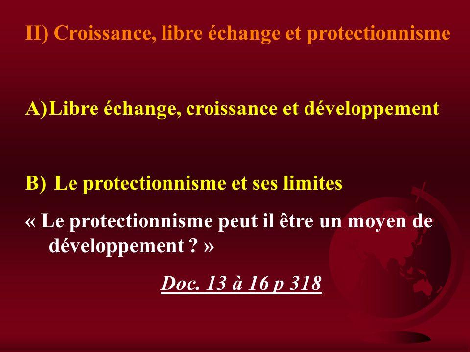 II) Le libre échange peut aussi avoir des CSQ néfastes A) Le LE bouleverse les eco 1)Le LE modifie la structure des emplois a) Évolution imposée par l