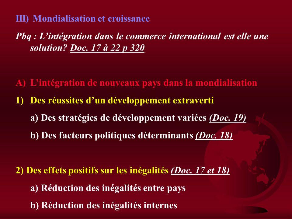 II) Les limites du protectionnisme A) Des effets pervers 1)Pénalise la croissance a) Hausse des prix b) Faiblesse de la D 2) Condamne lappareil produc
