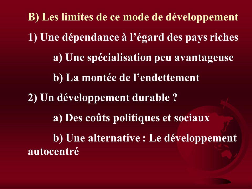 I) Le développement des pays extravertis A) Louverture sur lextérieur comme mode de développement 1) Les conditions du développement des pays a) Un né