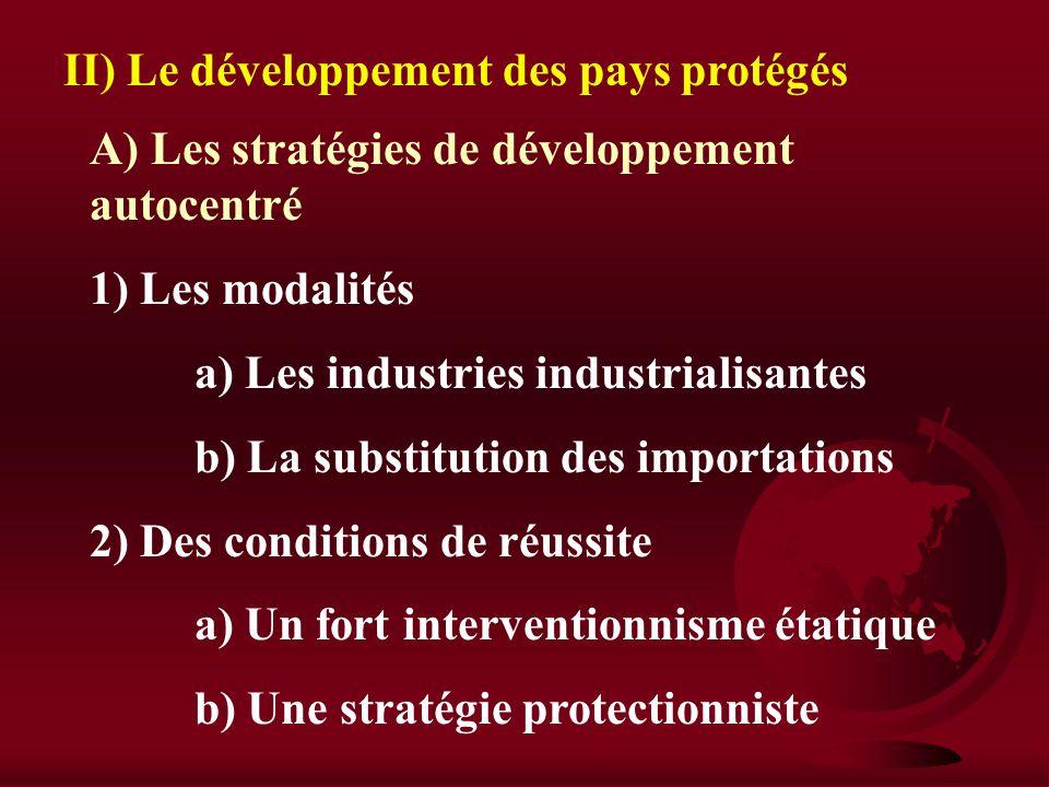 B) Les limites de ce mode de développement 1) Une dépendance à légard des pays riches a) Une spécialisation peu avantageuse b) La montée de lendetteme