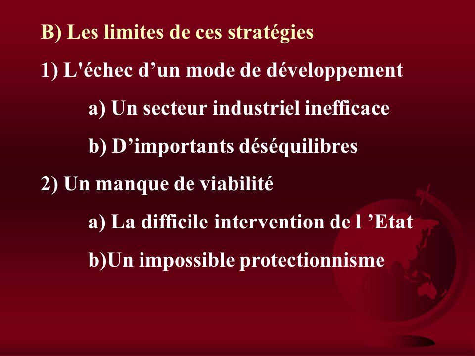 II) Le développement des pays protégés A) Les stratégies de développement autocentré 1) Les modalités a) Les industries industrialisantes b) La substi