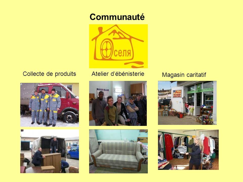 Collecte de produitsAtelier débénisterie Magasin caritatif Communauté