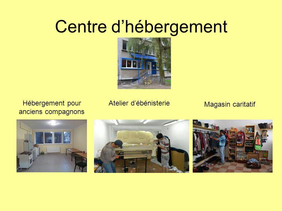 Centre dhébergement Hébergement pour anciens compagnons Atelier débénisterie Magasin caritatif