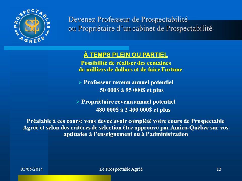 05/05/2014Le Prospectable Agréé12 Comment devenir un Prospectable Agréé .