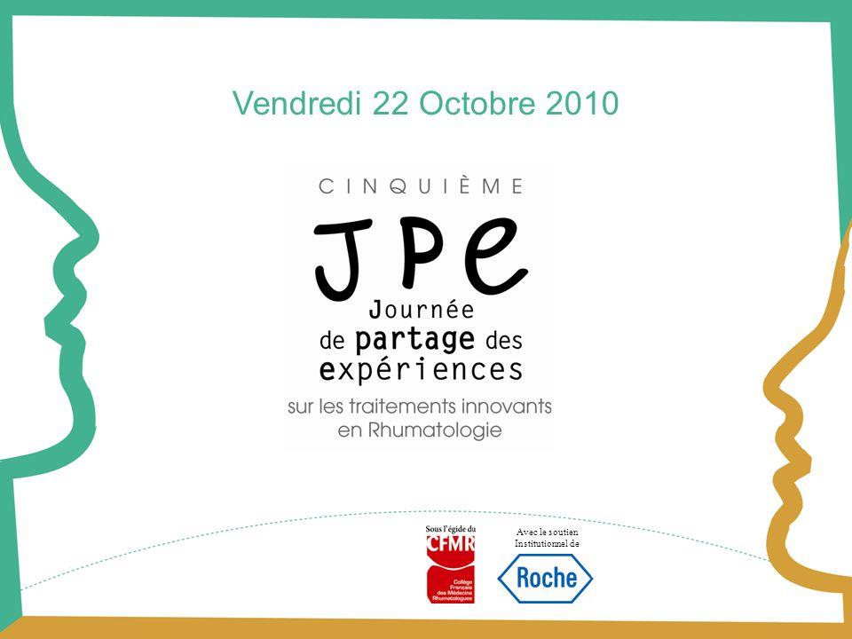 Avec le soutien Institutionnel de Vendredi 22 Octobre 2010