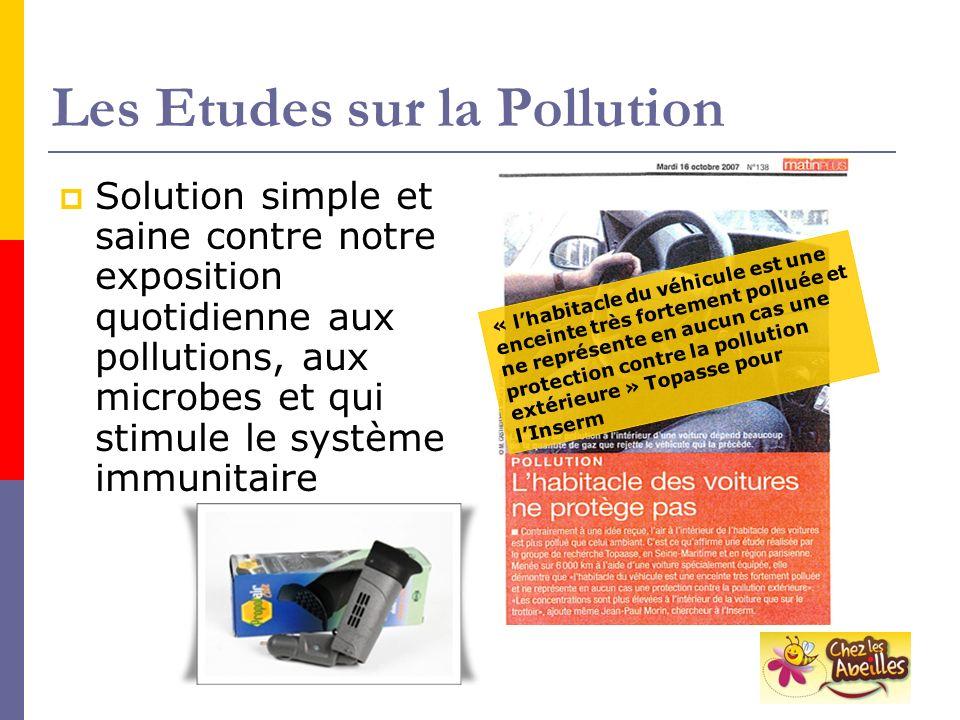 Les Etudes sur la Pollution Solution simple et saine contre notre exposition quotidienne aux pollutions, aux microbes et qui stimule le système immuni