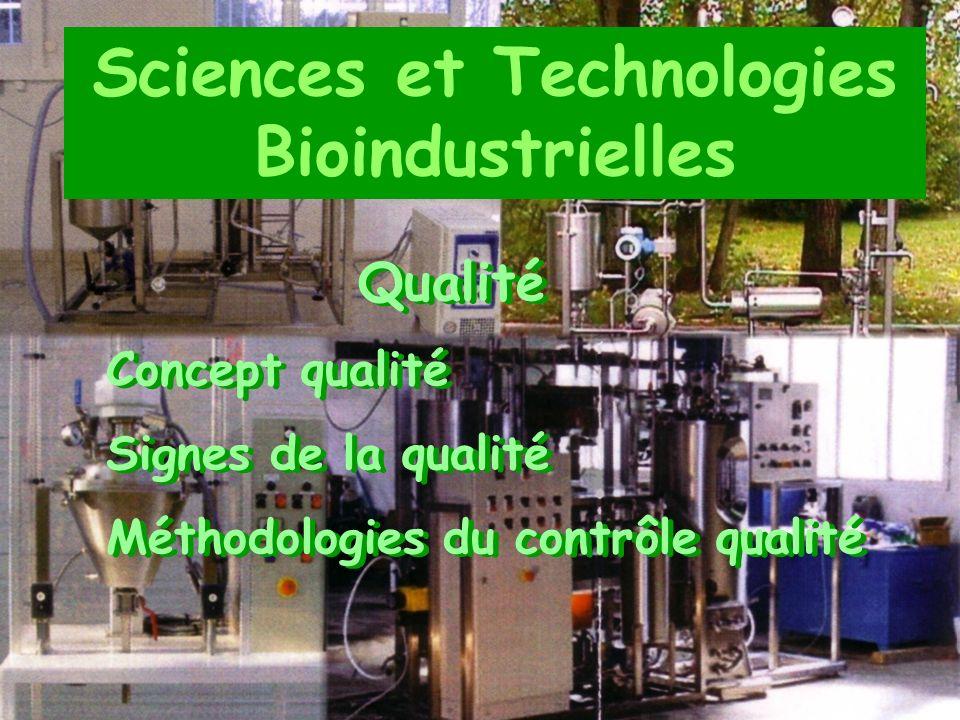 Qualité Concept qualité Signes de la qualité Méthodologies du contrôle qualité Qualité Concept qualité Signes de la qualité Méthodologies du contrôle