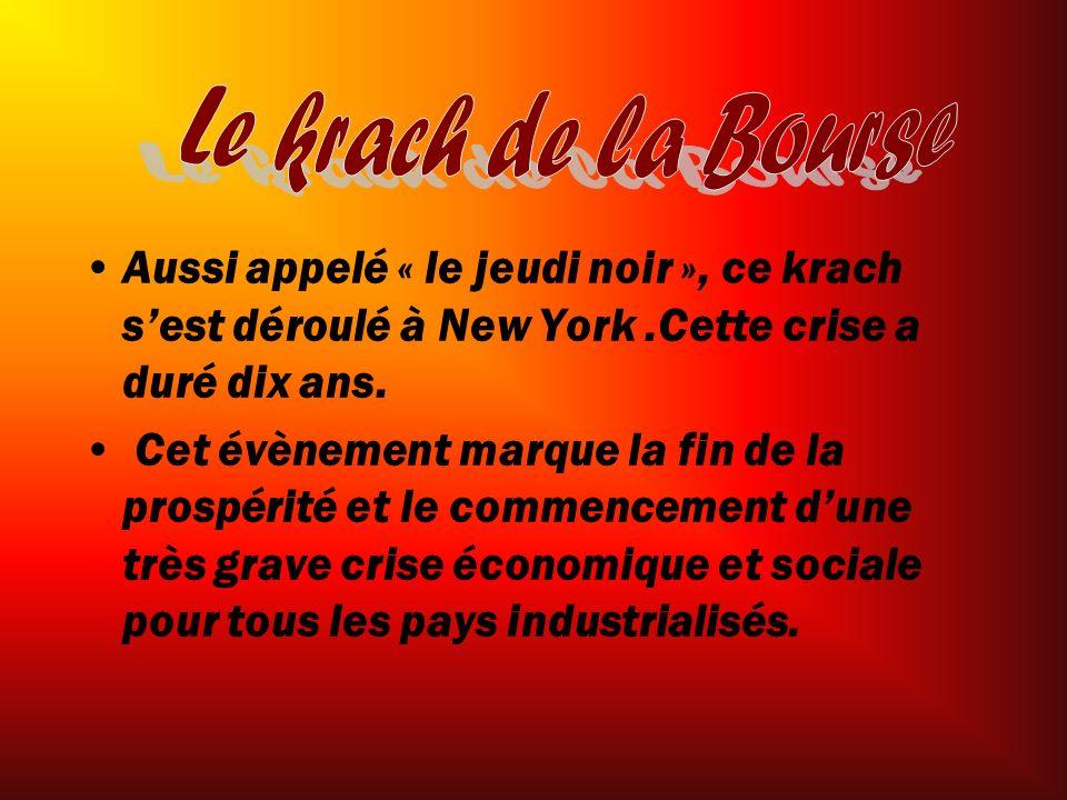 Voici les conséquences du Krach boursier de NY: Les États-Unis n achètent plus les produits québécois.
