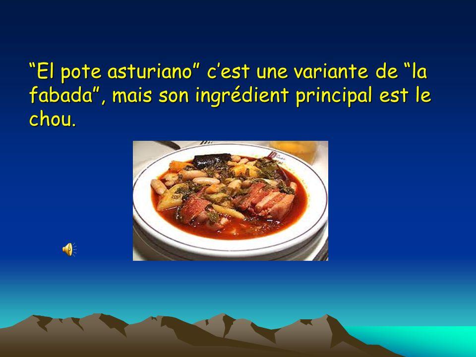 El pote asturiano cest une variante de la fabada, mais son ingrédient principal est le chou.
