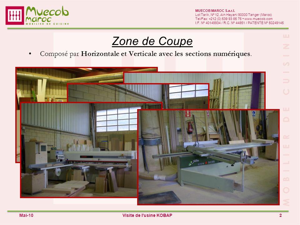 Fabrication de Zone I 3 MUECOB MAROC S.a.r.l.