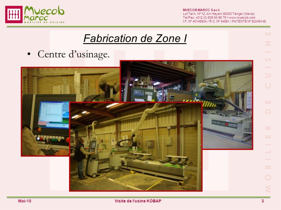 Fabrication de Zone II 4 MUECOB MAROC S.a.r.l.