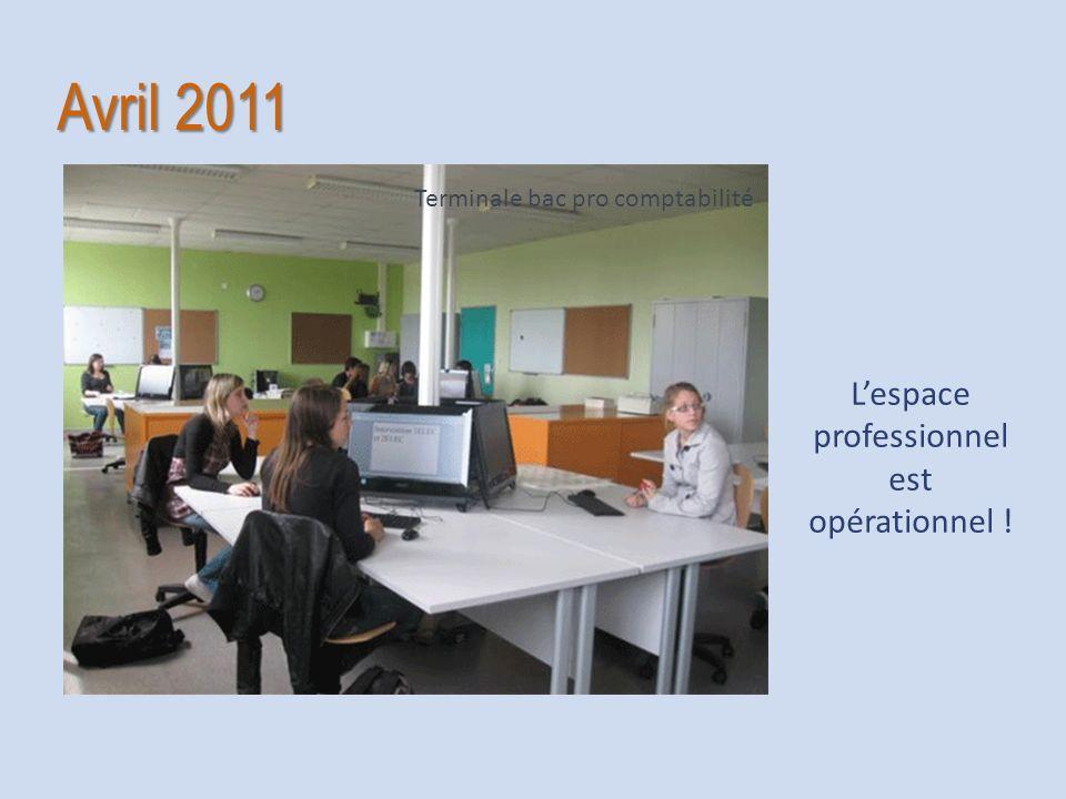 Avril 2011 Lespace professionnel est opérationnel ! Terminale bac pro comptabilité