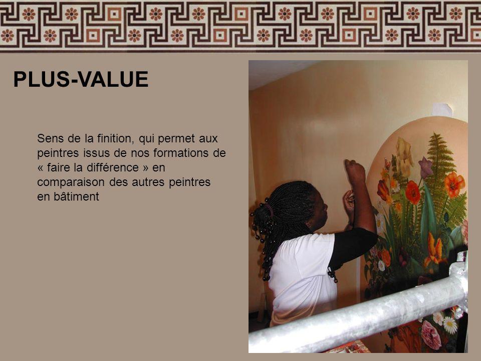 Sens de la finition, qui permet aux peintres issus de nos formations de « faire la différence » en comparaison des autres peintres en bâtiment PLUS-VA