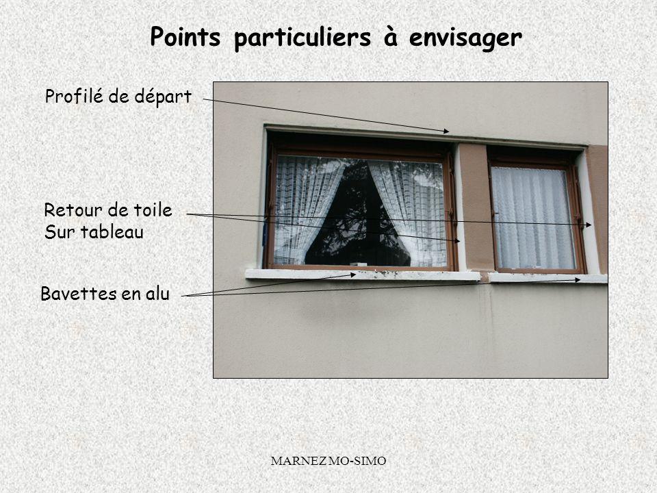MARNEZ MO-SIMO Accessoires dITE Pose de bavettes sur les appuis de fenêtres :