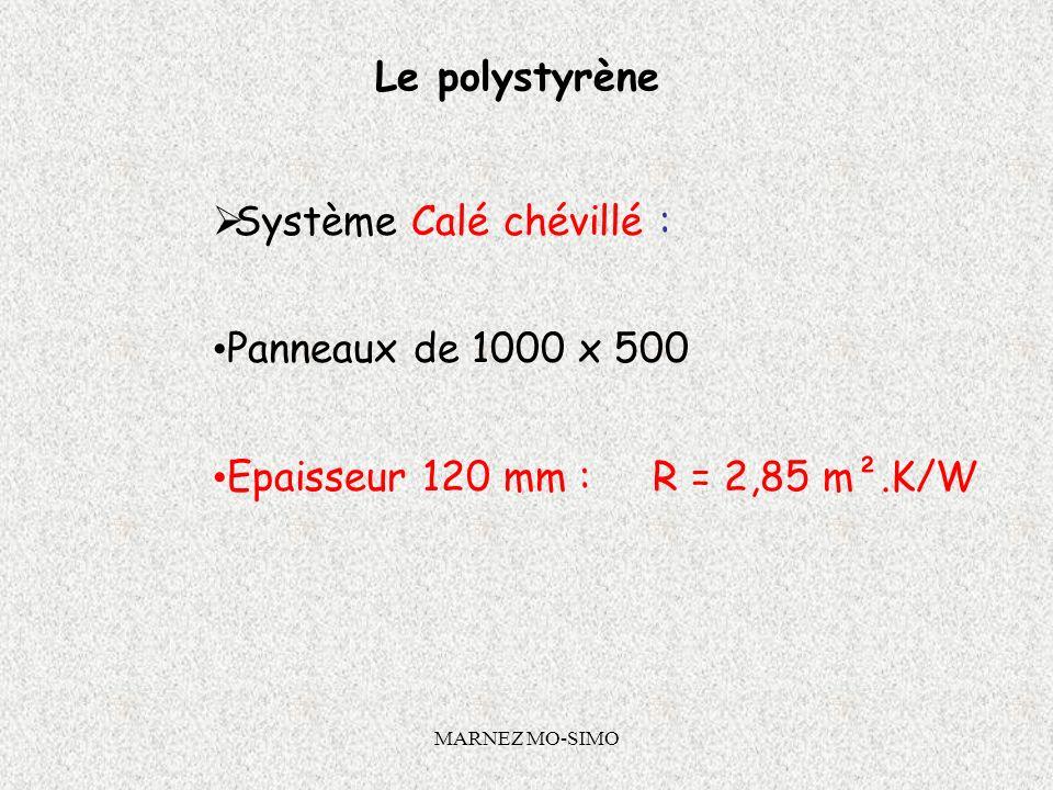 MARNEZ MO-SIMO Système Calé Chevillé 1 ère étape : caler lisolant avec des plots de colle appliqués sur lenvers de lisolant. Se servir des plots pour