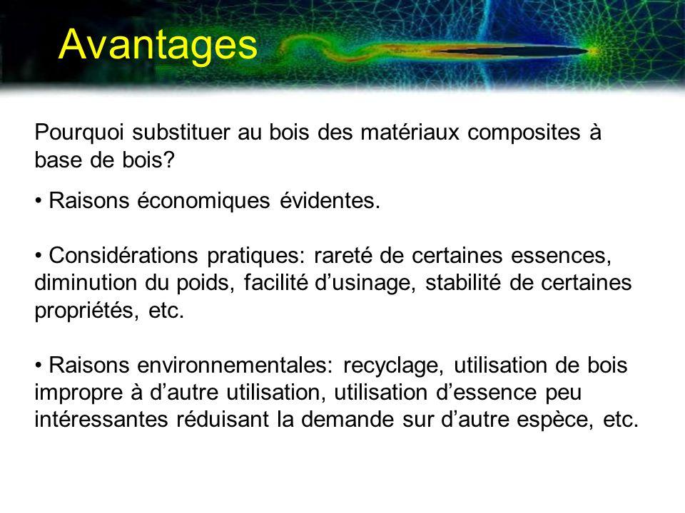 Propriétés des matériaux On suppose que la densité des matériaux est fixe.