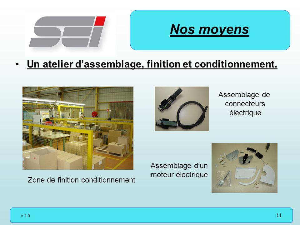 V 1.5 11 Un atelier dassemblage, finition et conditionnement.