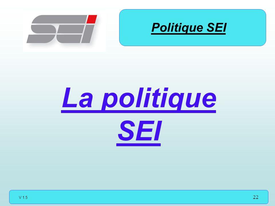 V 1.5 22 Politique SEI La politique SEI