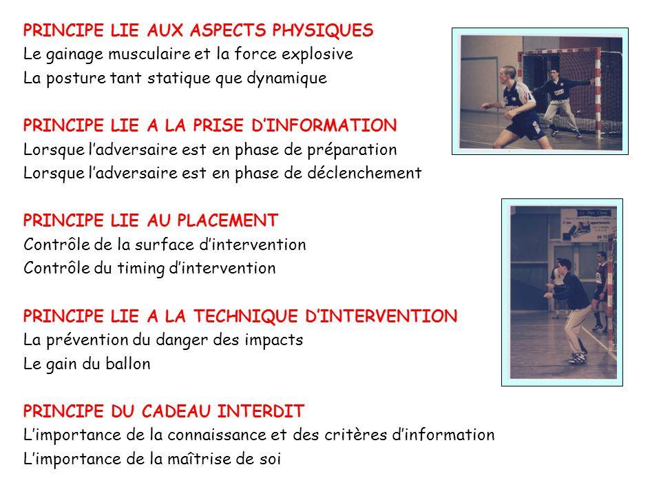 PRINCIPE LIE AUX ASPECTS PHYSIQUES Le gainage musculaire et la force explosive La posture tant statique que dynamique PRINCIPE LIE A LA PRISE DINFORMA