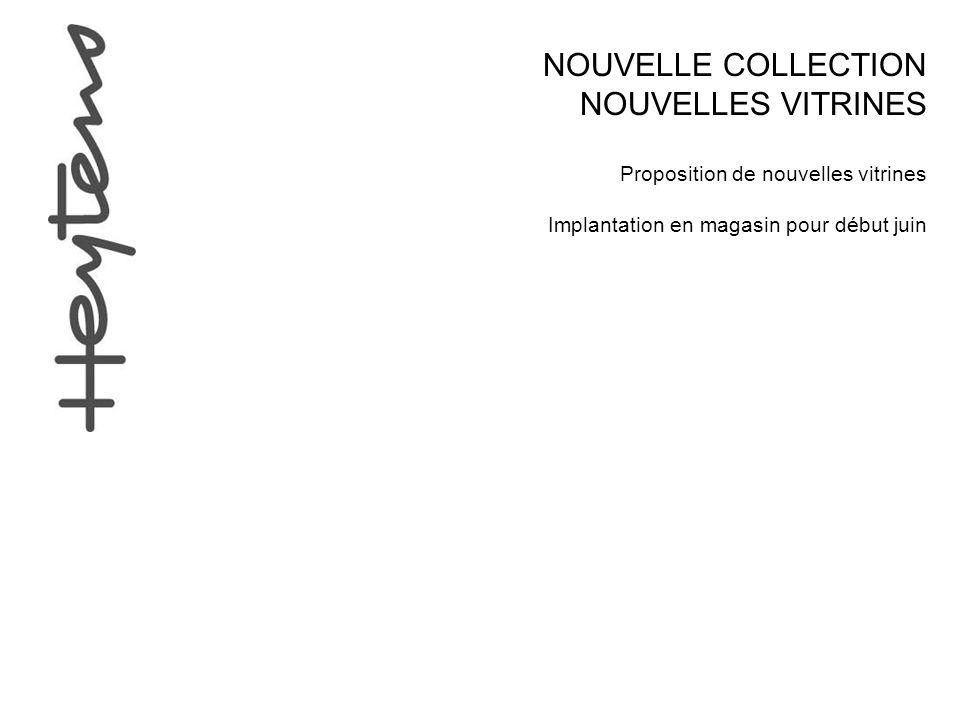 NOUVELLE COLLECTION NOUVELLES VITRINES Proposition de nouvelles vitrines Implantation en magasin pour début juin
