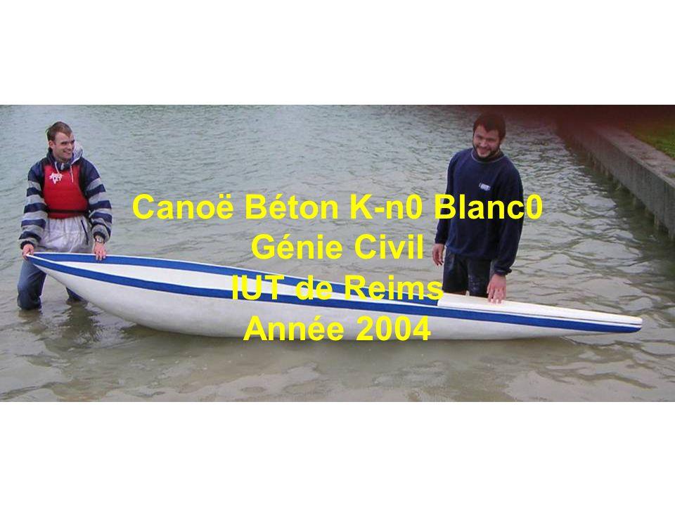 Canoë Béton K-n0 Blanc0 Génie Civil IUT de Reims Année 2004