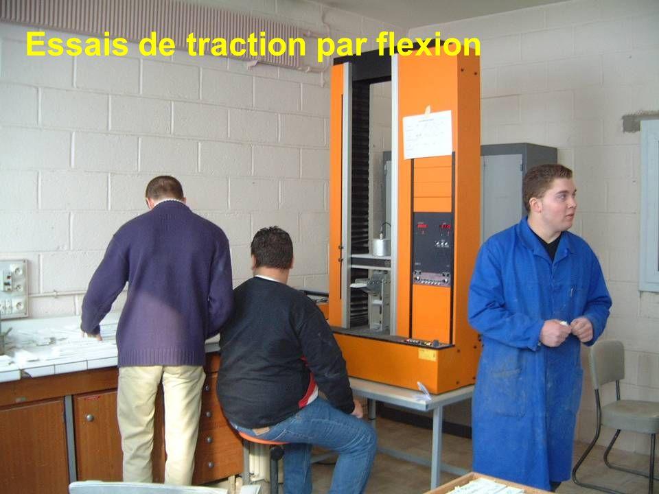 Essais de traction par flexion