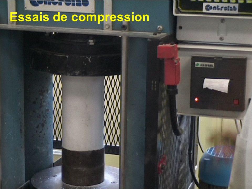 Essais de compression