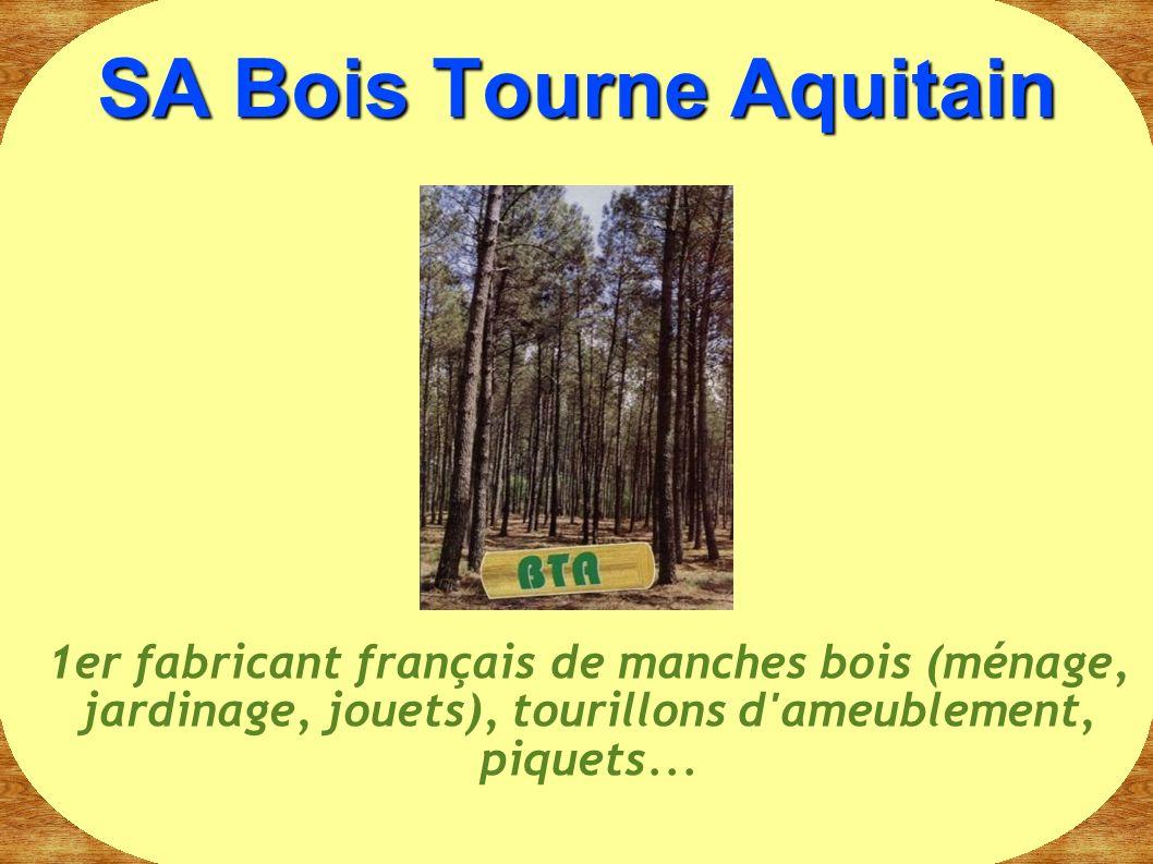 SA Bois Tourne Aquitain 1er fabricant français de manches bois (ménage, jardinage, jouets), tourillons d'ameublement, piquets...