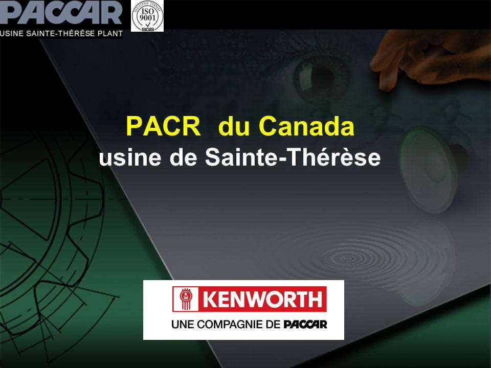 PACR du Canada usine de Sainte-Thérèse