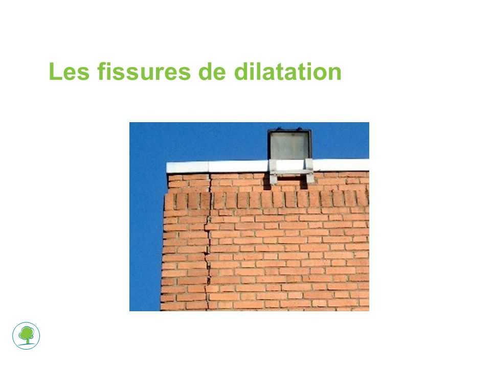 Les fissures de dilatation